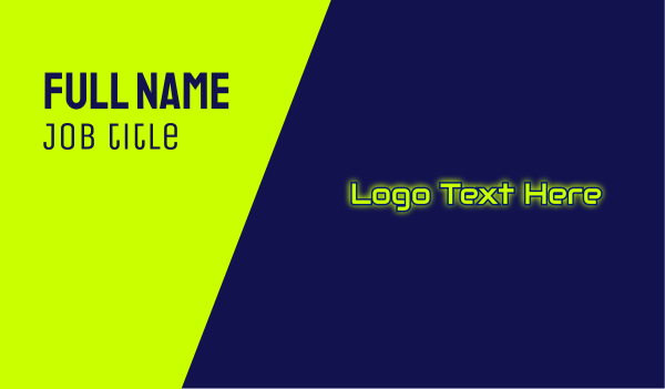 hacker - Automotive Glow Text Business card horizontal design