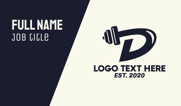 workout - Fitness Gym Letter D Business card horizontal design