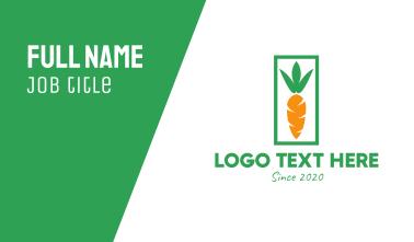 Organic Carrot Business Card