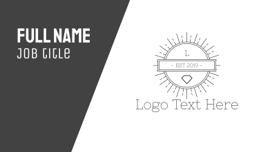 Hipster Circle Business Card