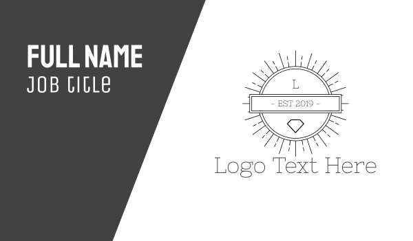 venice beach - Hipster Circle Business card horizontal design