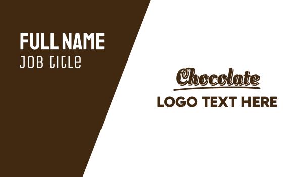 brown cupcake - Dark Chocolate  Business card horizontal design