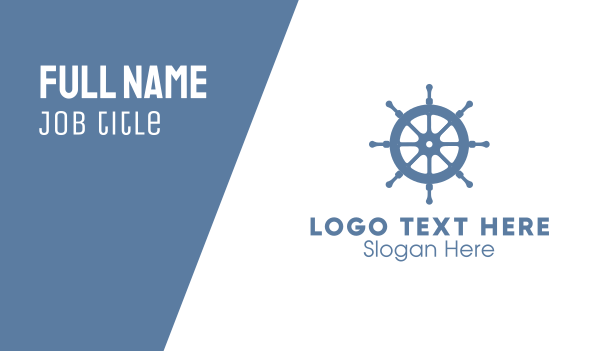 helm - Ship Wheel Helm Business card horizontal design