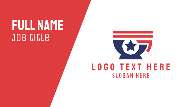 flag - American Cafe Coffee Business card horizontal design