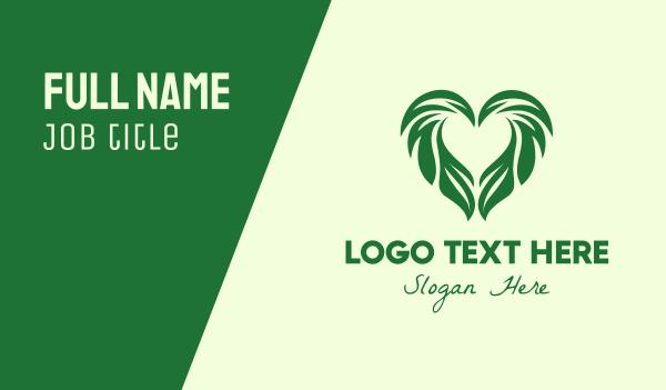 creations - Leaf Heart Business card horizontal design