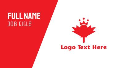 Canada Royalty Business Card