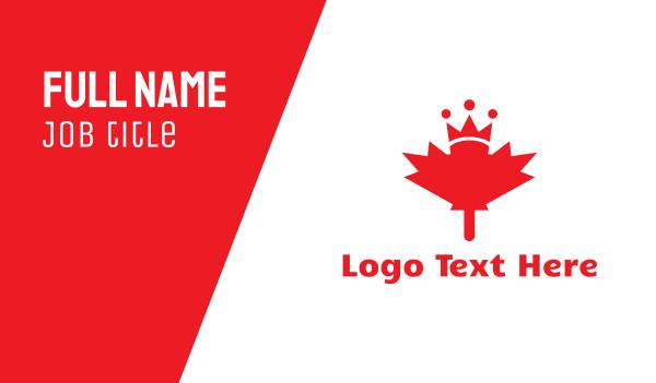 maple leaf - Canada Royalty Business card horizontal design