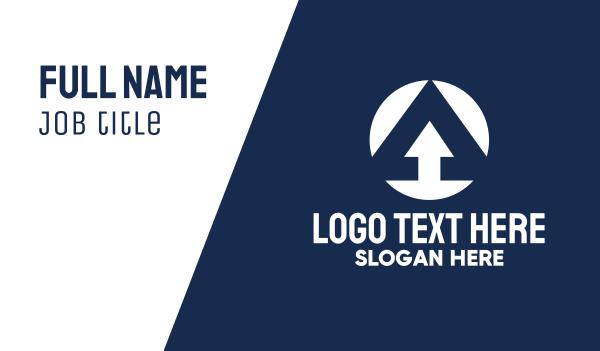 upload - Upgrade Letter A Business card horizontal design