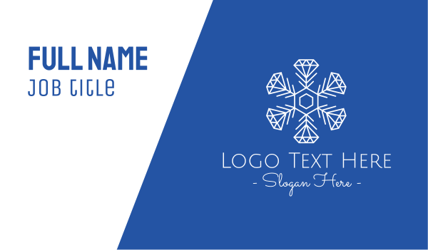 winter - Winter Snowflake Diamond Fashion Business card horizontal design