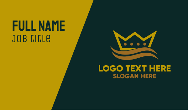 ship - Ocean Crown Business card horizontal design