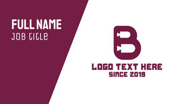 maroon - Maroon B Movies Business card horizontal design