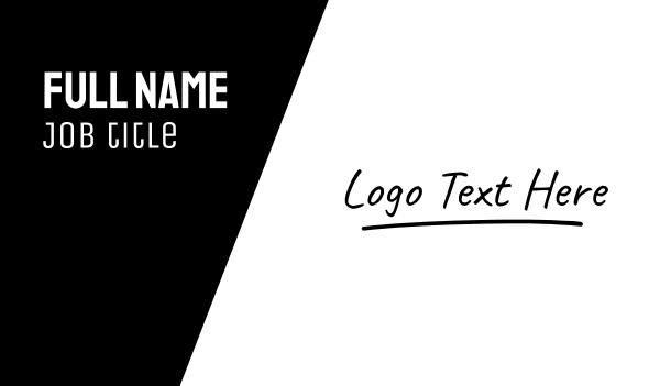 autograph - Signature Wordmark Business card horizontal design
