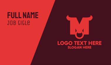 Red Buffalo Horns Business Card