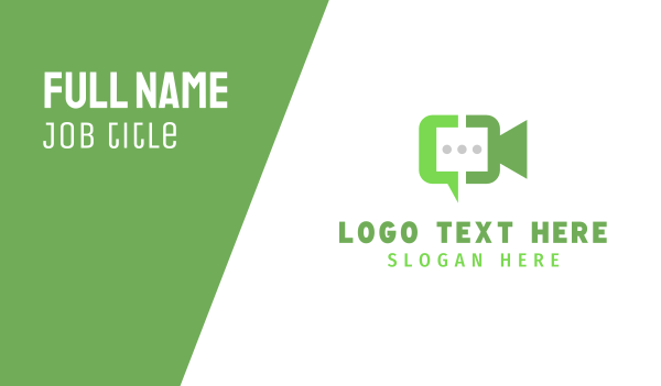 conversation - Video Chat Business card horizontal design