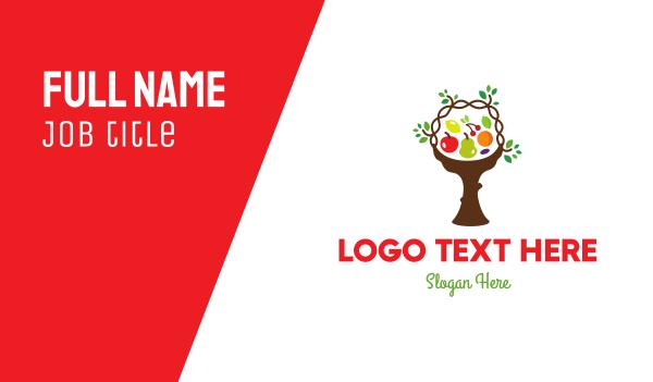 tree - Tree Fruit Basket Business card horizontal design
