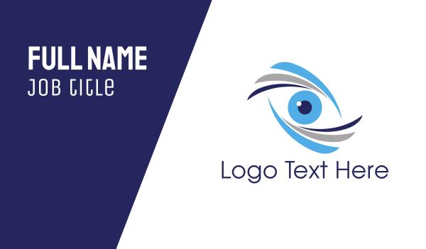 oculist - Blue Eye Business card horizontal design