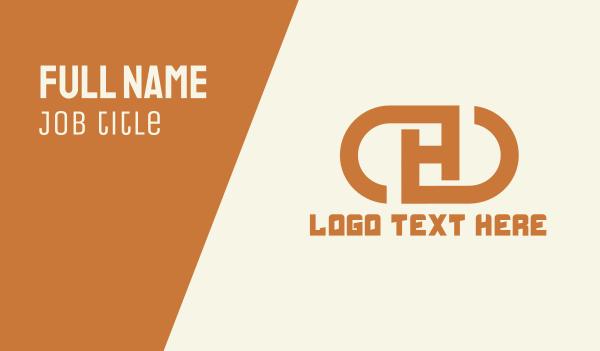 merchandise - Letter H Capsule Business card horizontal design