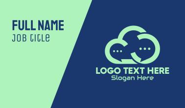 Online Message Cloud  Business Card