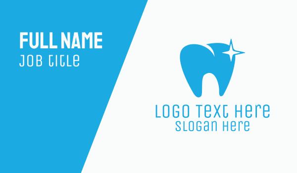 dental clinic - Shining Tooth Business card horizontal design