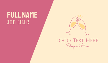 Champagne Glass Toast Business Card
