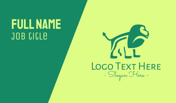 wild creature - Green Jungle Lion Business card horizontal design