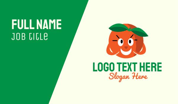 nutritious - Happy Orange Mascot Business card horizontal design