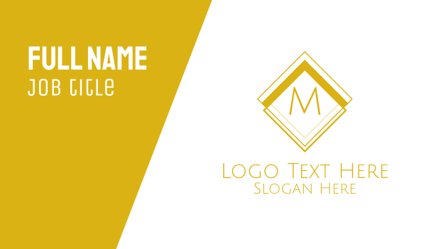 pricey - Luxurious Classical  Lettermark Business card horizontal design