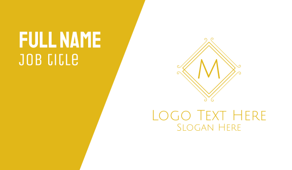 pricey - Luxurious Stroke Square Lettermark Business card horizontal design
