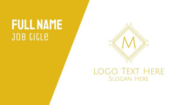 detailed - Luxurious Stroke Square Lettermark Business card horizontal design