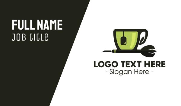 teapot - Tea Cup Dart Business card horizontal design