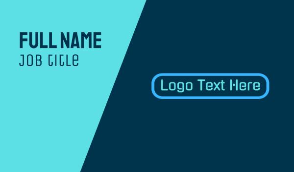 edgy - Blue Tech Wordmark Business card horizontal design