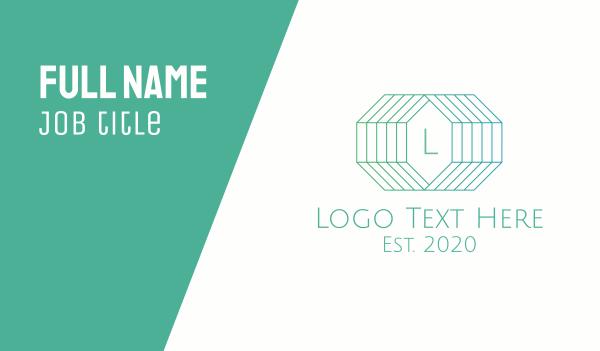high end - Elegant 3D Gem Lettermark Business card horizontal design