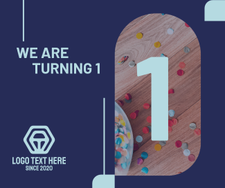 We Are Turning 1 Facebook post