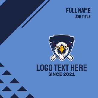 Eagle Baseball Mascot Business Card