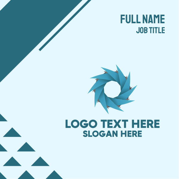 Spiral Generic Company Business Card