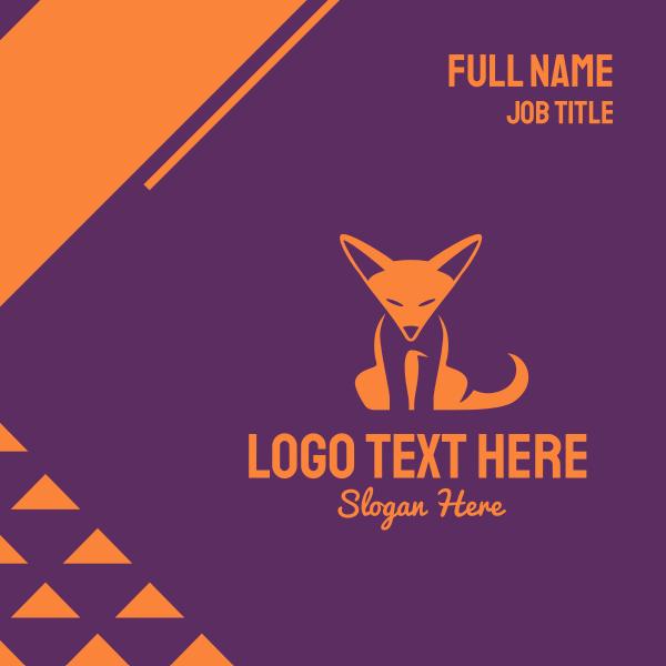 Orange Fox Cub Business Card