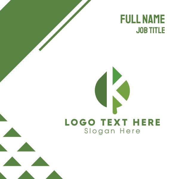 Leaf Letter K Business Card