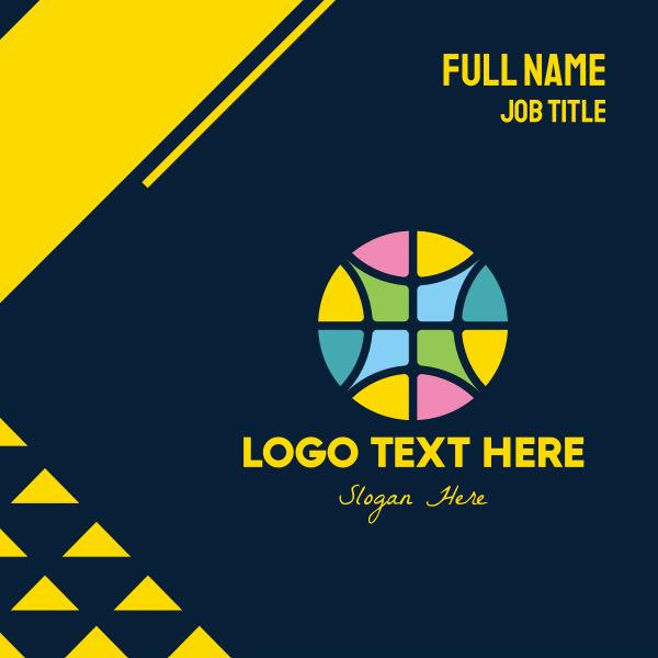 Geometric Tile Decoration Business Card