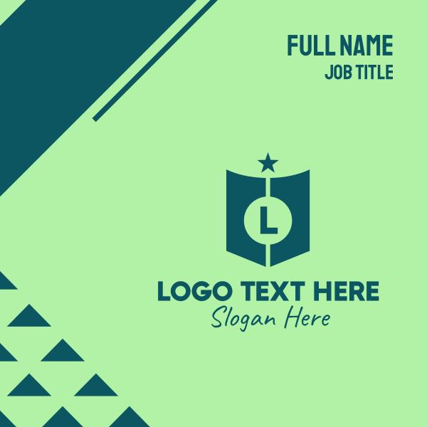 Green Star Lettermark Business Card
