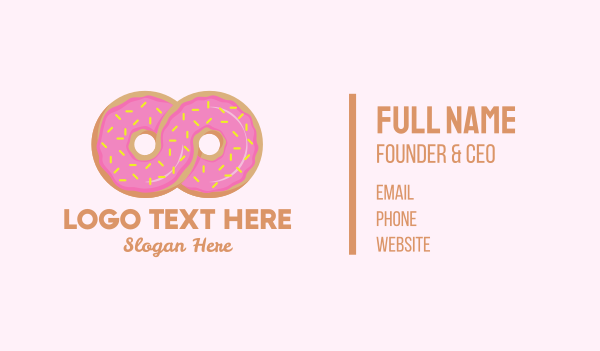 infinite - Infinite Donut Business card horizontal design