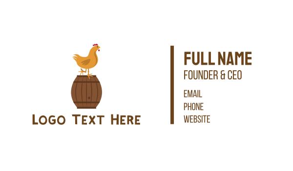 wine - Chicken & Barrel Business card horizontal design