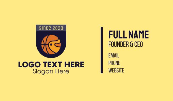 sporting event - Basketball Emblem Business card horizontal design
