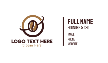 Coffee Bean Cafe Business Card