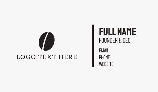 coffee bean - Black Coffee Bean Business card horizontal design