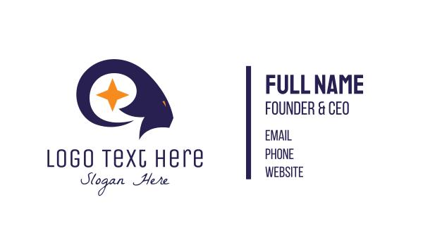 stargazing - Blue Star Ram Business card horizontal design