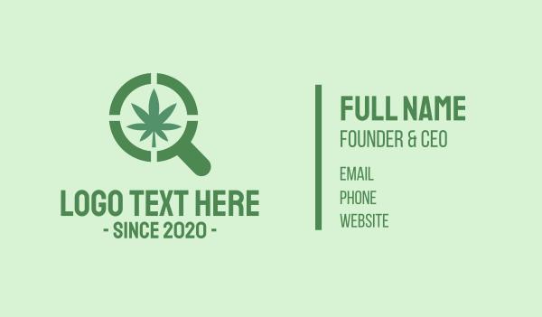 eliquid - Magnifying Glass Cannabis Business card horizontal design