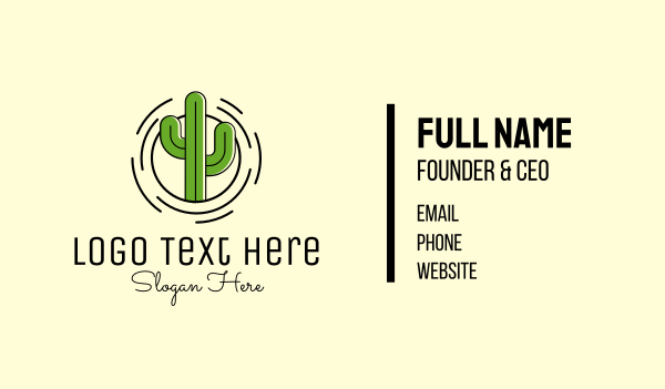 spike - Cactus Plant Business card horizontal design