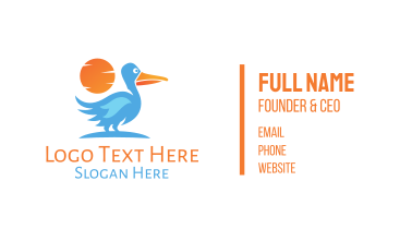 Blue Stork Business Card