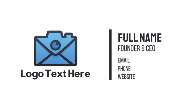 Mail Camera Business Card