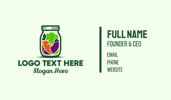 dietitian - Healthy Pickled Vegetables Jar Business card horizontal design